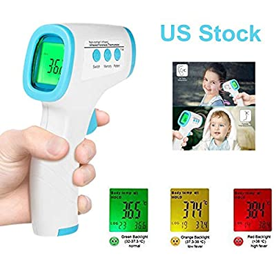 Digital Infrared Forehead Thermometer,Non-Contact Digital Thermometer with Fever Alert Function,3 in 1 Digital Medical Infrared Thermometer for Baby,Adults and Surface of Objects
