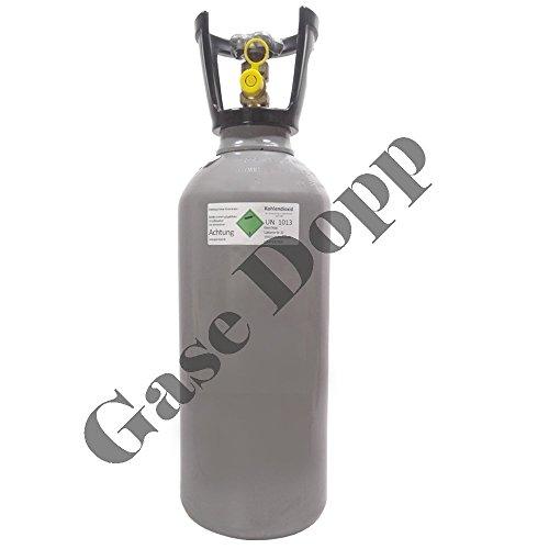 6 kg CO2 Flasche gefüllt mit Lebensmittel Kohlendioxid / Kohlensäure - Fabrikneue Eigentumsflasche von Gase Dopp