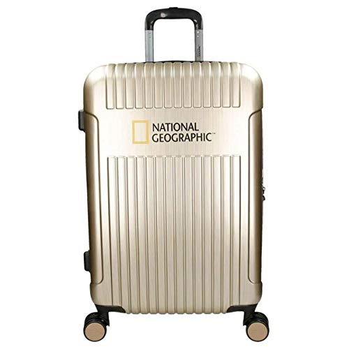 Koffer Hartschale Reisekoffer Trolley National Geographic Größe L Champagner