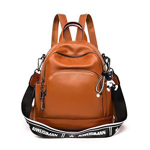 BUKESIYI Women's Backpack Handbags Rucksack Shoulder Bags PU Leather Mini Kawaii Anti-theft CCUK78237 Brown