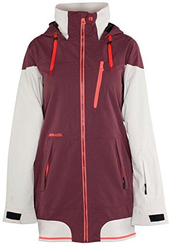 ARMADA Damen Gypsum Insulated Jacke, rot weiß, XS EU