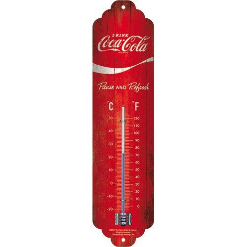 Nostalgic-Art Thermometer, Metall, Bunt, 28 x 6.5 x 2 cm