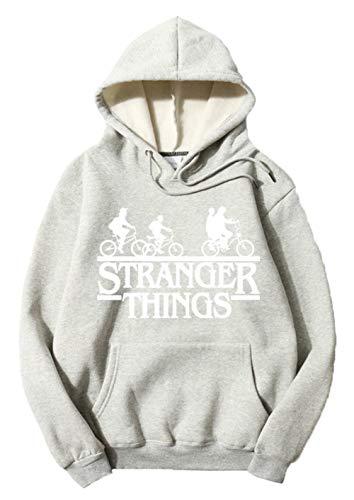 Preisvergleich Produktbild HUASON Stranger Things Kapuzenpullover Unisex Baumwoll Pullover mit Samtfutter Loses Sweatshirt mit Tasche(S)