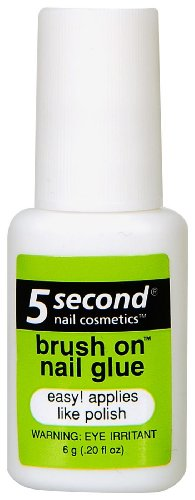 5 Second Brush On Nail Glue 0.2 oz (Pack...