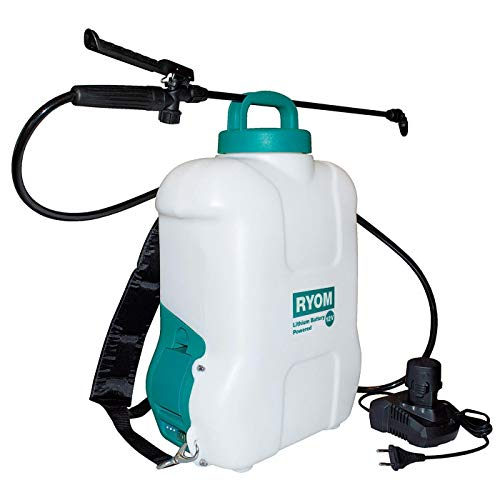 Ryom 404-178 Akku-Drucksprüher Rückenspritzgerät 10 Liter mit 10,8V LI-Akku