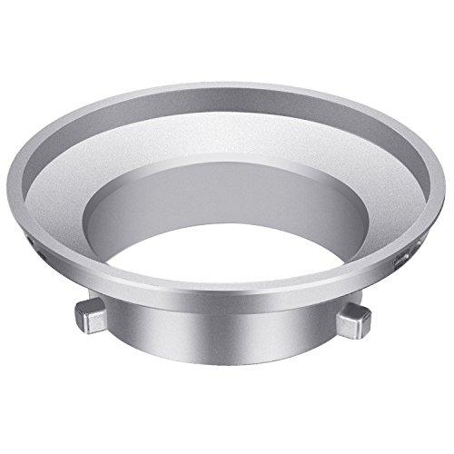 Neewer Softbox Speed anello adattatore per flash Bowens Monoluce e Soft box–in lega di alluminio, 9,7cm/9.6centimeters di diametro interno e 15cm