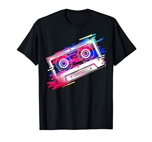 Disfraz de cinta de cassette 80s 90s Vintage Retro Mixtape Camiseta