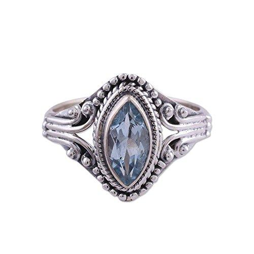 NOVICA Blue Topaz .925 Sterling Silver Ring, Morning Luxury'