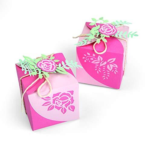 Sizzix Set di Fustelle Thinlits Scatola per Bomboniere Origami by Lynda Kanase, 8 Pezzi