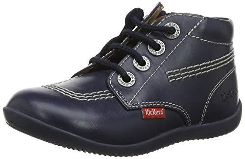 Kickers Jungen Unisex Kinder BILLYZIP Stiefel, Blau (Marine Perm 10), 18 EU
