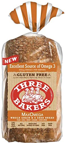 Three Bakers Max Omega Whole Grain & 5 Seed Bread {2 Pack}