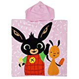 Bing Bunny - Poncho Accappatoio Mare Piscina - Bambino Bambina - 55x55cm - 100% Cotone (Rosa, Taglia Unica)