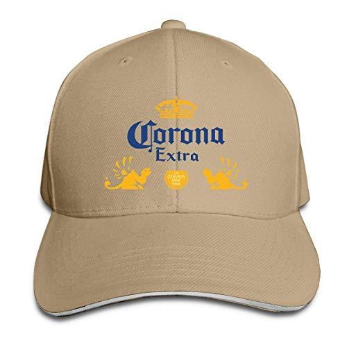 GGdjst Corona Extra Bier verstellbare Casquette Unisex Baseball Cap Trucker Hüte Schwarz