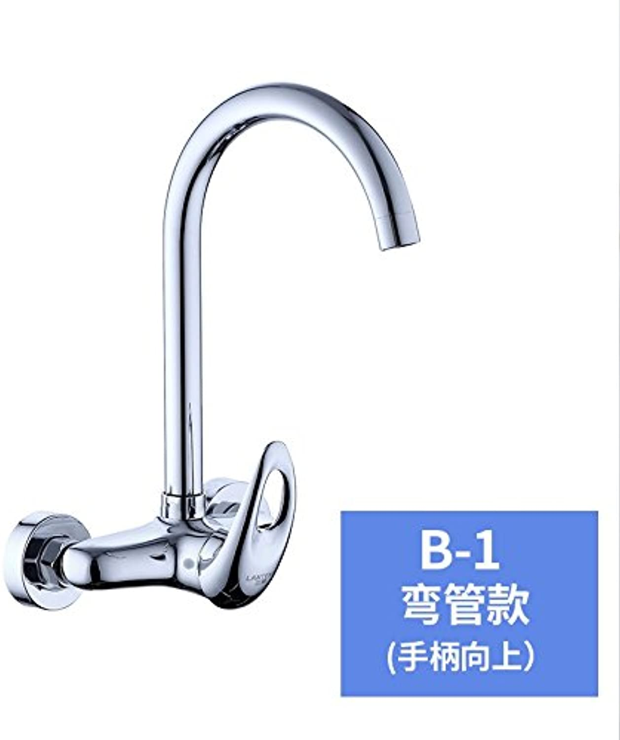 Commercial Single Lever Pull Down Kitchen Sink Faucet Brass Constructed Polished Copper,Wall-Mounted,Kitchen,hot and Cold,Faucet,Double Hole,Sink,Sink Faucet,redating Faucet,E