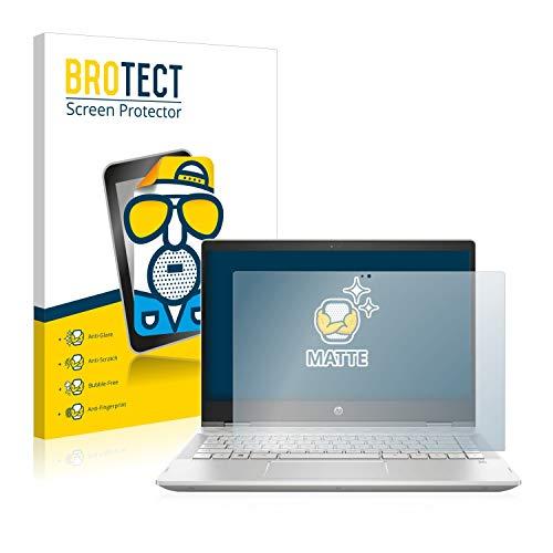 BROTECT Entspiegelungs-Schutzfolie kompatibel mit HP Pavilion x360 14-cd0003ng Bildschirmschutz-Folie Matt, Anti-Reflex, Anti-Fingerprint
