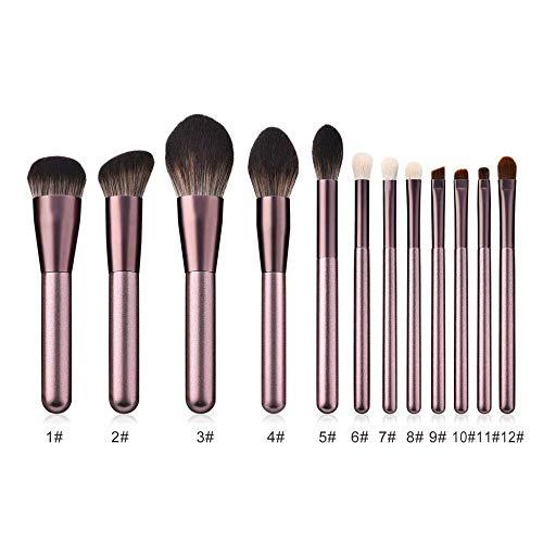 GONGFF Base de Maquillage d'ombre de Fard à paupières Foundation Blush Correcteur de Maquillage Kit de Pinceau de Maquillage, Brown