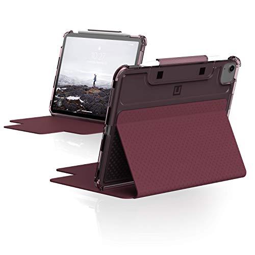 U by UAG [U] Lucent Funda para Apple iPad Air 4 10.9' (2020) / iPad Pro 11' (2020 & 2018) (Función de pie, Despertar/Dormir, Solapa magnética, Apple Pencil Porta) - Aubergine/Dusty Rose