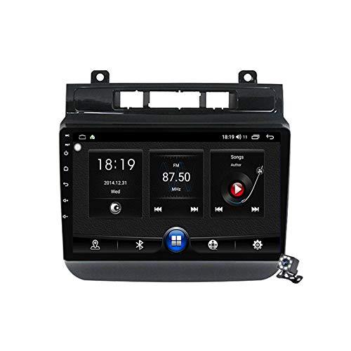 Gokiu Android 10 Autoradio 2 DIN Car Stereo Coche GPS Navegacion para VW Touareg FL NF 2010-2018 Soporte Carplay Android Auto/Multimedia FM RDS DSP/Control Volante/Hands-Free Calls,7731