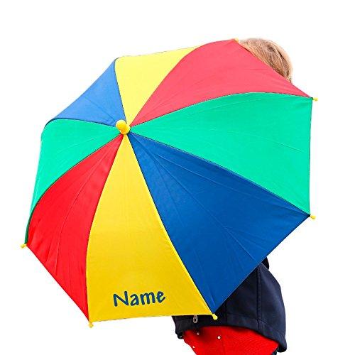 Striefchen® Kinderschirm kunterbunt mit Ihrem Wunschnamen bedruckt