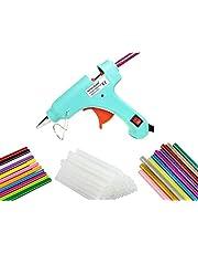 HOTGLUEGUN 20W 7 mm On and Off Switch Hot Glue Gun and LED Indicator- 6 Transparent + 6 Colored + 6 Glitter Sticks (18 Sticks)