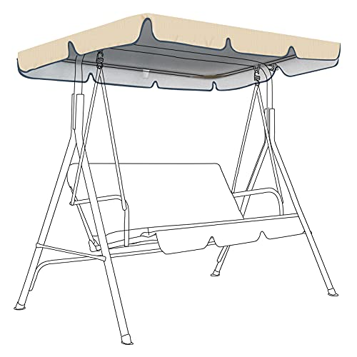 SOKINGCOVER Replaceable Swing Canopy, Gray, Swing Ceiling Replacement Cover 55 X 47 X7''