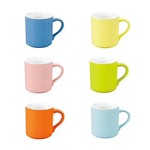 Panbado, 12-teilig Set Porzellan Tasse, 280 ml Trinkbecher, Mokkatassen, Kaffeebecher, Espressotassen, Milch Tee Tassen