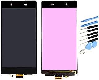 YQZ Sony Xperia Z4 SOV31 SO-03G Z3 Plus E6553 E6533 E5663 修理交換用フロントパネル LCD タッチパネル 液晶パネル(フロントガラスデジタイザ)修理工具セット付き (ブラック)