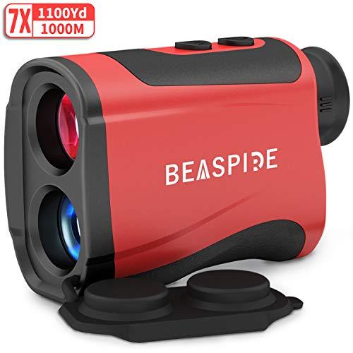 Télémètre Golf Chasse 1000M 7X Grossissement, Laser Range Finder Télescope Rechargeable 1100...
