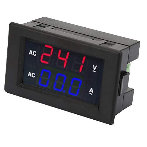Preisvergleich Produktbild 2 in 1 AC Strom Spannungsmesser,  Digital Multimeter AC 100~300 V Voltmeter 0-50A Amperemeter Amperemeter LED Digital Display Panel (Rot-Blau)