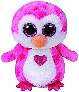 TY Valentines JULIET Pink Penguin Beanie Boos 6