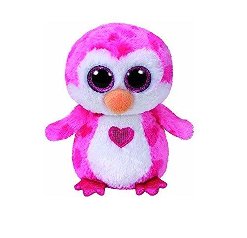 TY 36865 Juliet, Pinguin pink m. Herz 15cm, mit Glitzeraugen, Beanie Boo's, Valentin limitiert, 15 cm