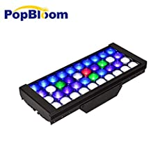 """-Just 1 """"Middle Panel"""" Add Additional Panel, No Controller -The package come with 1 """"middle panel"""" and 1 power supply, 1 power plug, 1 rail kits -Smart PWM fan without tiny noise at night mode -For DSunY """"J"""" series aquarium lights,The difference betw..."""