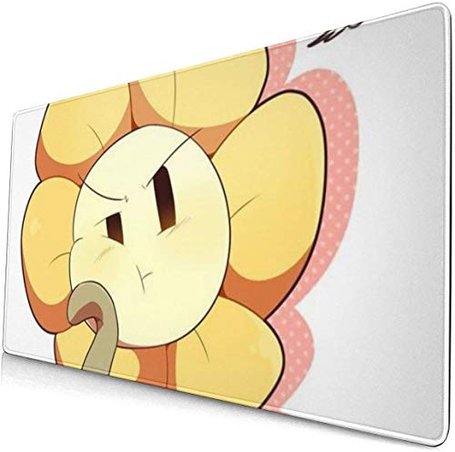 Ex-tra Lar-ge Mouse Pad -Undertale Flower Desk Mousepad - 15.8x29.5in (3mm Thick)- XL Protective Keyboard Desk Mouse Mat for Computer/Laptop