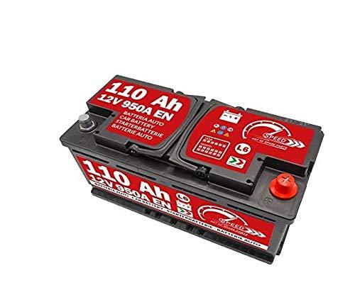 Preisvergleich Produktbild AUTOBATTERIE SPEED L6-110Ah 950A 12V +DX