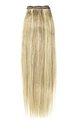 American Dream Remy 100% cheveux humains 35,6 cm soyeuse droite Trame Couleur 18/22 – Blond Cendré/Blond Plage