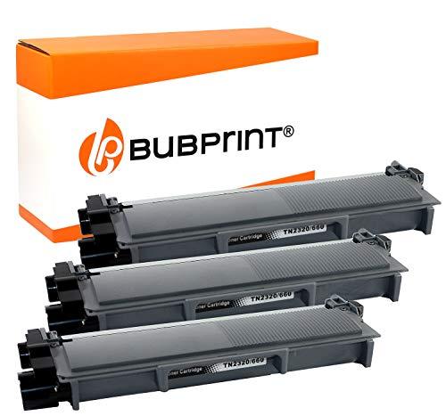 Bubprint Kompatibel Toner als Ersatz für Brother TN-2320 TN-2310 für DCP-L2500D DCP-L2520DW HL-L2300D HL-L2340DW HL-L2360DN HL-L2365DW MFC-L2700DN MFC-L2700DW Schwarz 3er-Pack