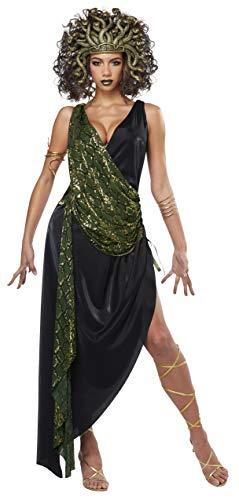California Costumes Verführerisches Medusa-Kostüm für Damen Antike-Kostüm schwarz-grün XL (44/46)