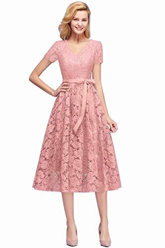 MisShow Abendkleid Gr 52 Übergrößen Aus Spitze Stil Elegant Kleider