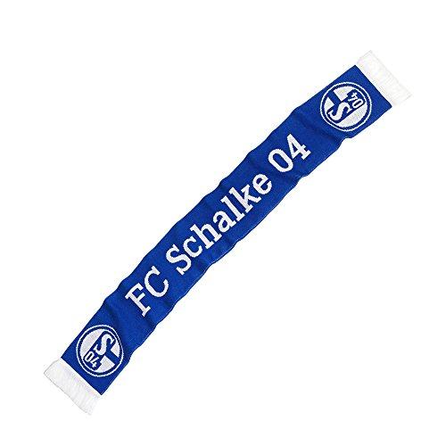 FC Schalke 04 Fan Schal Classic, Weiß Blau, L