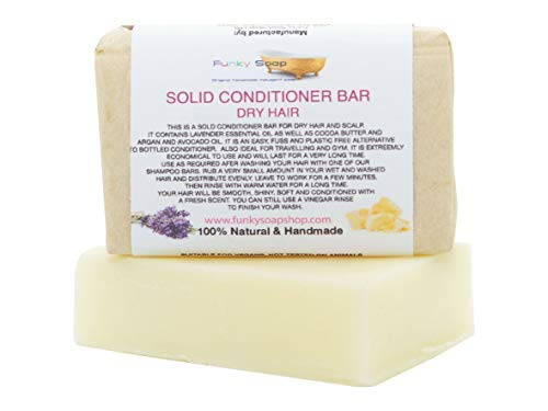 Solid Conditioner Bar For Dry Hair, 100% Natural & Handmade, 1 Bar of 95g