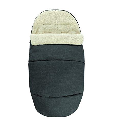 Maxi-Cosi kuschelig weicher 2-in-1 Fußsack, Winter-Auflage geeignet für alle Kinderwagen, auch als Sitzpolster verwendbar, nomad black