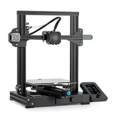 Creality 3D Ender 3 V2 3D Upgraded DIY 3D Printer 2020 Newest Model with Ultra-Silent TMC2208 and Carborundum Glass Platform DIY Resume Printing Fully Open Source Print Size 220x220x250mm