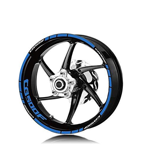 Llantas de la Rueda de la Motocicleta Pegatinas Reflectantes Calcomanías de neumáticos Moto Accesorios Decorativos Conjunto para Honda CB500F CB500 Completo Cinta (Color : XT LQ CB500F BLU)