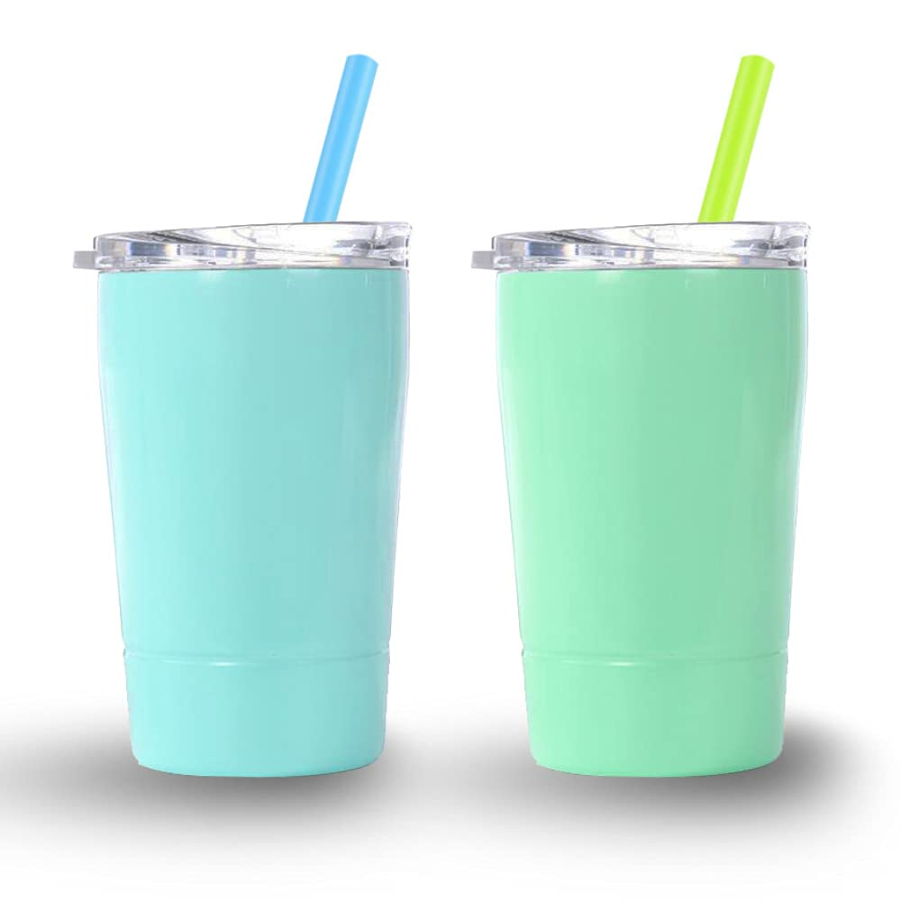 XccMe Kids Water Cup 2 Pack Stainless Steel Omaha Mall Max 65% OFF Tumbler OZ 8.5 Toddl