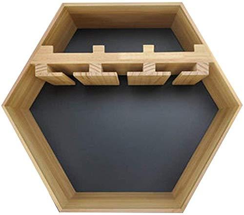 Zwevende plank, voor het ophangen aan de muur, van hout, wijnrek voor slaapkamer, wanddecoratie, voor badkamer 50 * 50 * 22cm Bruin