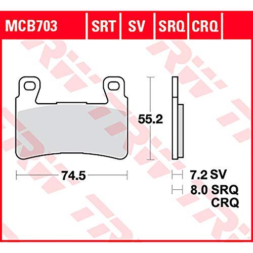 Bremsbelag TRW Sinter Road und Track CBR 900 RR Fireblade SC44 00-01 vorne