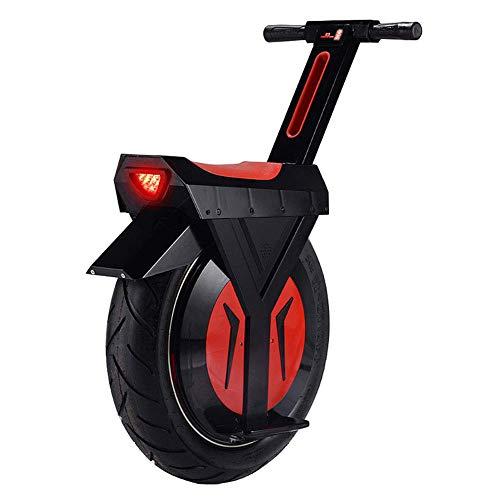 "XYDDC Monociclo eléctrico Negro, E-Scooter Monociclo Vespa con Altavoz Bluetooth, Gyroroue Unisex Adulta, 17"" 60V / 500W, a 90 km"