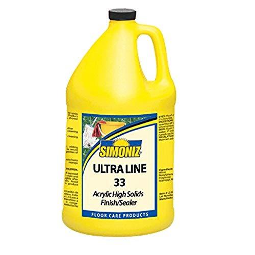 Simoniz UL0700004 Ultra Line 33 Acrylic High Solids Finish and Sealer, 1 gal Bottles per Case (Pack of 4)