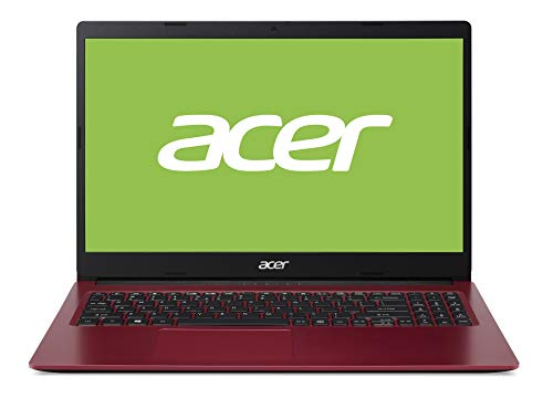 Acer Aspire 3 (A315-34-P9KH) 39,6 cm (15,6 Zoll Full-HD matt) Multimedia Notebook (Intel Pentium N5030, 4 GB RAM, 128 GB PCIe SSD, Intel UHD 605, Win 10 Home im S Modus) rot/schwarz