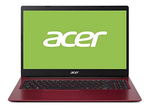 Acer Aspire 3 (A315-34-P9KH) 39,6 cm (15,6 Zoll Full-HD matt) Multimedia Notebook (Intel Pentium N5030, 4 GB RAM, 128 GB PCIe SSD, Intel UHD 605, Win 10 Home im S Modus) rot/schwarz